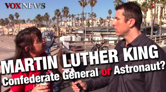 Martin Luther King... Confederate General or Astronaut?